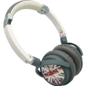 CASQUE-DJBRITISH - Caque Audio Hifi universel DJ-British drapeau UK coloris gris